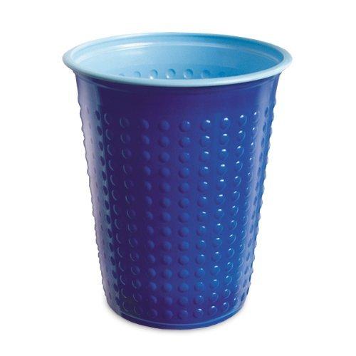 40 Pièce Gobelet Gobelets en plastique 200 ml divers Gobelet à deux couleurs Bicolore différentes couleurs W5 - bleu - bleu clair, 200 ml