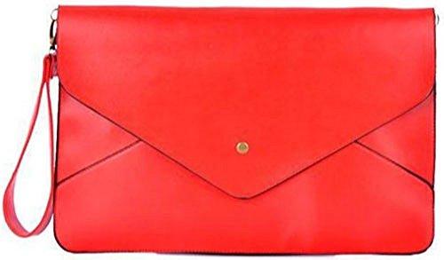 HandBagCrave - Borsetta senza manici donna Plain-Red