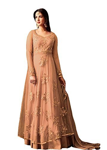 Capri Creation\'s New Arrival Party Wear Wedding Collection Embroidred Unstitched Heavy Salwar Suit Suits Gowns Dress Materials Dresses Anarkali For Girls Women Designer Latest Collection 2018(1257_Fr