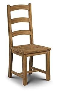 Julian Bowen Mayflower Dining Chairs Waxed Pine Set Of 2 Kit