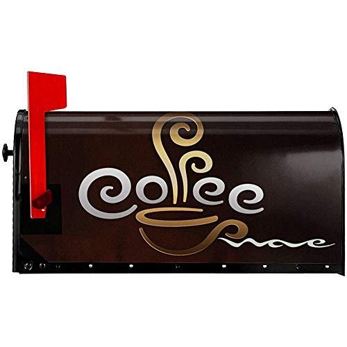 Kaffeetasse Willkommen Magnetische Mailbox Abdeckung PVC Wasserdichte Mailbox Wraps Praktische Box Abdeckung 21x18 in