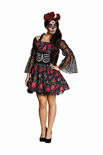 Damen Kostüm La Catrina Skelett Dia de los muertos Halloween ()