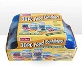 30-teiliges Kunststoff Food Container Set–15Kunststoff Vorratsdosen mit blauem Deckel
