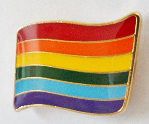 1000 Flags Rainbow LGBT Gay Pride gewellt Flagge Pin Badge