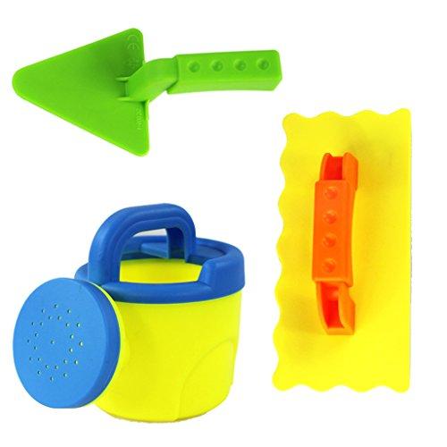 Baoblaze 3-tlg Kinder Strand Sandkasten Sandspielzeug Set ( Wasserkocher + Quadratische Schaufel + Dreiecksschaufel )