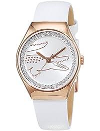 Lacoste Damen-Armbanduhr VALENCIA Medium Analog Quarz Leder 2000896