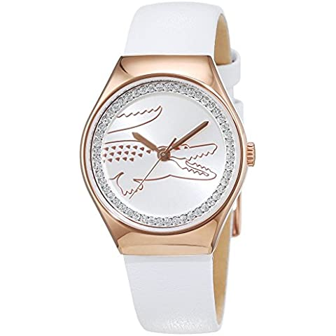 Lacoste mujer-reloj analógico de cuarzo en el medio de Valencia de cuero 2000896