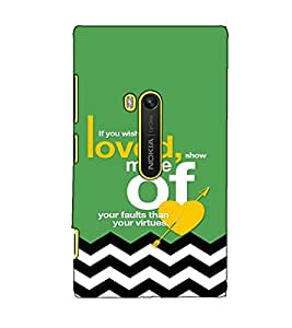 Fuson Designer Back Case Cover for Nokia Lumia 920 :: Micosoft Lumia 920 (If you wish to be loved)