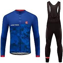 Uglyfrog 2018 Ciclismo Body Uomo Manica Lunga Set Ciclismo Magliette+Long Pantaloni Gel Pad Abbigliamento Inverno Caldo with Fleece WMZ05