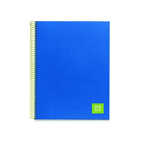 miquelrius-2767-carnet-5-couleurs-a5-quadrille-125-feuilles-80-g-bleu
