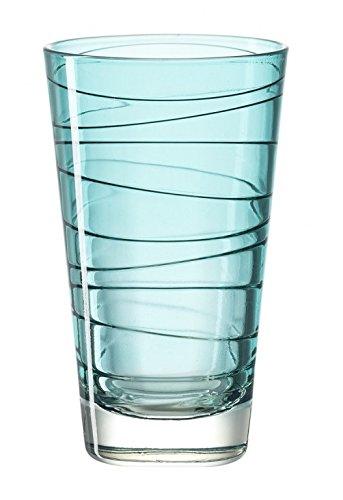 Leonardo - Vario Struttura Gläser für Wasser und Saft, groß, aus Glas, Türkis, 200ml, 18238 -