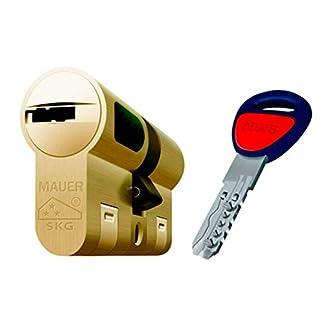 Bombin De Seguridad MAUER NW5 31×41 Color LATON, Reforzado, Antirotura, Antibumping, Antitaladro, Leva Antiextracción, Cerradura Para Puerta, Incluye 5 Llaves El Cilindro Y Tarjeta De Seguridad