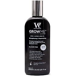 Watermans Champú para Crecimiento rapido del cabello y Anti-Caída, 250ml (8.4 fl oz)