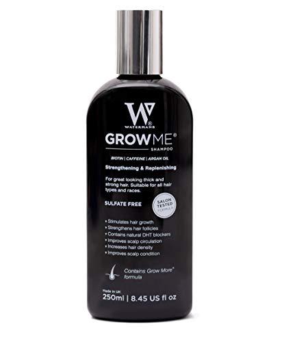Watermans Haarshampoo, Anti Haarausfall, Anti haarverlust shampoo, Haar Nachwachsen Vitamin shampoo, Koffein, Biotin, Arganöl Haar schützen Shampoo Wirksame Lösung für Haarverdünnung & Bruch -