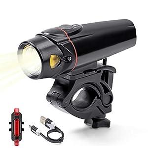KeVis FahrradbeleuchtungStvzo LEDFahrradbeleuchtungStvzo LED Fahrradbeleuchtung Set Wasserdicht IPX5 USB Wiederaufladbar Frontlichter und Rücklicht Passen Alle
