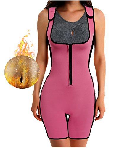Gotoly Damen Neopren Abnehmen heißen Sauna Schwitzanzug Ärmeln für Gewichtsverlust (2XL Für 50-52, (Männer 80er Workout Kleidung)