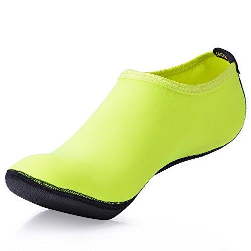 JACKSHIBO Herren Barfuß Wasserschuhe Surfschuhe Damen Strandschuhe Schwimmschuhe Unisex (Laufen Barfuß Schuhe)