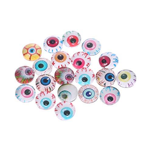 (ZOOMY 20 Stück Glas Puppen Augen Tier DIY Handwerk Augäpfel Für Dinosaurier Auge Zubehör Schmuck Handgemachte Farbe Nach Dem Zufall - 8mm)