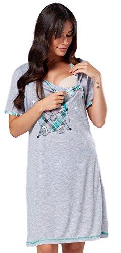 HAPPY MAMA. Donna Prémaman carina camicia da notte gravidanza allattamento 271p