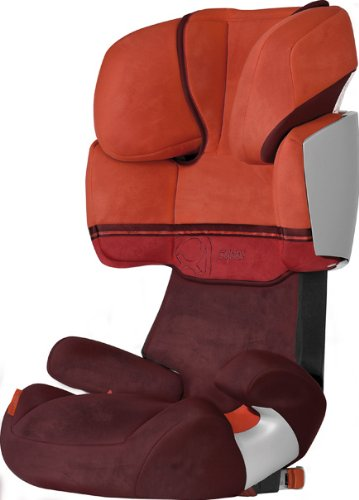 Cybex 050076003 Solution X-Fix PLUS Wildlederoptik /  Grenadine - red / dark red, Kinderautositz Gruppe II / III