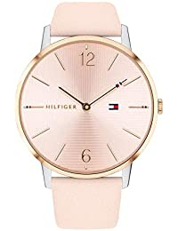 Tommy Hilfiger Damen Analog Quarz Uhr mit Leder Armband 1781973