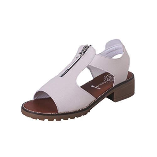 LHWY Damen Sport Casual Sandalen Schuhe Ladies Platform Sandalen Keile Beige