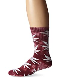 Huf Plantlife Tye Dye Crew Socks Wine One Size