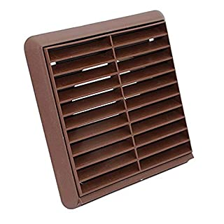5 INCH ROUND 125MM BROWN LOUVRED WALL VENT AIR GRILLE - DUCTING FITTING BY KAIR VENTILATION