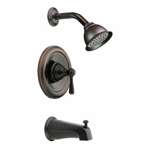 Kingsley Finish (Moen t2113orb Kingsley posi-temp Badewanne und Dusche Trim Kit ohne Ventil, Öl eingerieben Bronze)