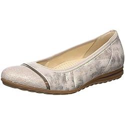 Gabor Shoes Damen Comfort Geschlossene Ballerinas, Silber (Platino 63), 35.5 EU