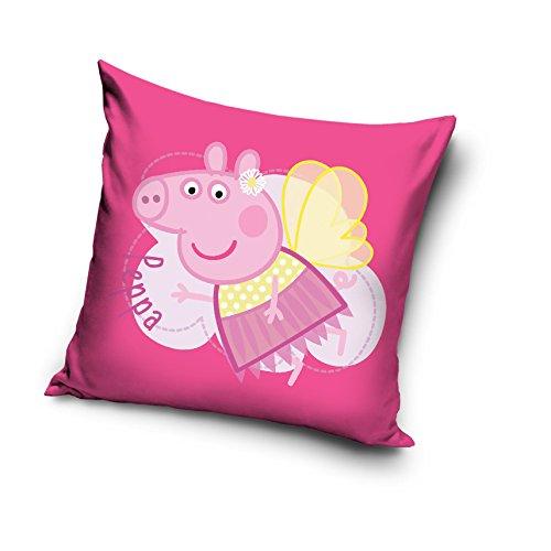 Niños de los niños decorativo funda para cojín funda de almohada de 40x 40cm, Peppa Pig Fairy, 40 x 40cm / 16' x 16'