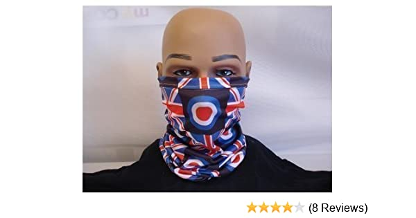 845f311b419 NECK WARMER FACE MASK SCARF SCOOTER TARGET UNION JACK MADE IN YORKSHIRE   Amazon.co.uk  Kitchen   Home