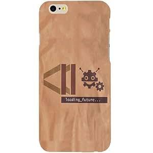 Casotec Loading Future Design Hard Back Case Cover for Apple iPhone SE