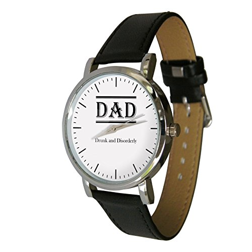 dad-drunk-and-disorderly-design-watch-with-a-genuine-leather-strap