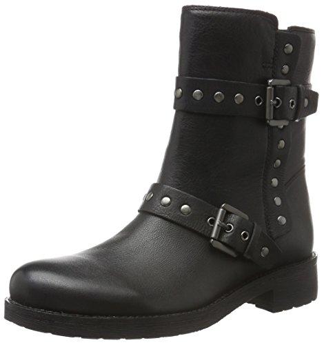 Geox Damen D New Virna G Biker Boots, Schwarz (BLACKC9999), 38 EU