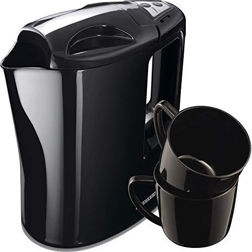Melissa 16130287 Reise Wasserkocher,Travel, inklusive 2 Tassen und Reisebeutel, plastic, schwarz