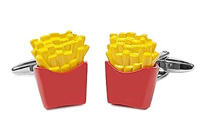 Sologemelos - Boutons De Manchette. Frites - Fermeture basculante - Antiallergique