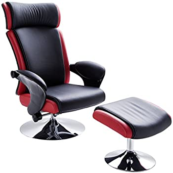 robas lund sessel relaxsessel bente mit hocker schwarz rot 117 x 81 x 86 cm 64007sr6. Black Bedroom Furniture Sets. Home Design Ideas