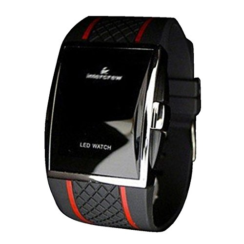 BYD - LED Watch Unisex Orologio Watch gel di silicone nero Automatico Digitale