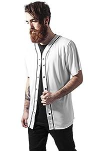 Urban Classics Baseball Mesh Jersey, T-Shirt Herren XL wht/blk