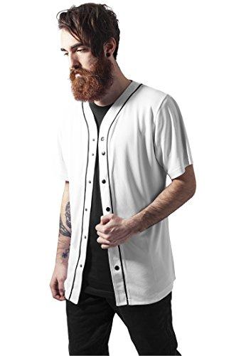 Urban Classics Baseball Mesh Jersey, T-Shirt Herren XL wht/blk (Shorts Hurley-t-shirt)