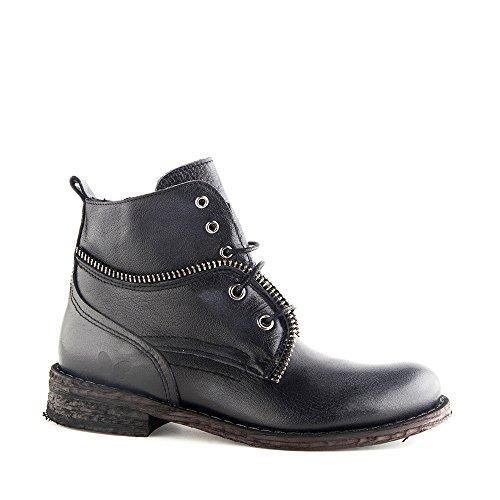 Felmini - Damen Schuhe - Verlieben Gredo 9223 - Schnürung Stiefel - Echte Leder - Schwarz - 0 EU Size Schwarz