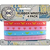 WONDER WOMAN 4 Mini, Officially Licensed DC Comics Originals Stylish Design, Rubber WRISTBAND