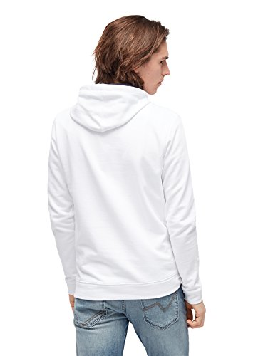 TOM TAILOR DENIM Sweat Hoodie mit Kapuze White