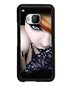Fuson Gorgeous Girl Back Case Cover for HTC ONE M9 - D4059