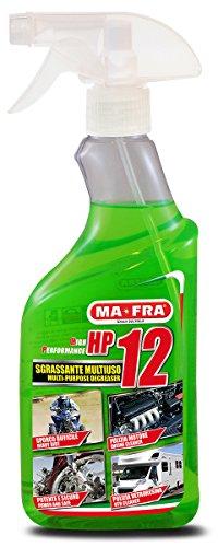 Mafra, HP12, Sgrassatore Universale Multiuso con Formula Attiva, Adatto a Tutte le Superfici,  Potente e Sicuro sulle Parti Trattate, Formato 500m