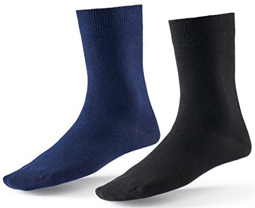 10 Paar Socken von Mat & Vic's für Sie und Ihn - Cotton classic bequem ohne drückende Naht - angenehmer Komfort-Bund - OEKO-TEX Standard 100 (43-46, Business Colors)