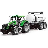 Ousdy Tractor de Granja Transportador de Agua con Remolque 550-13J 43CM (Verde)