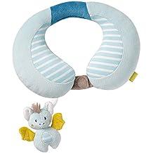 Fehn Nackenstütze – Nackenkissen mit kleinem Rassel-Tier für Babys und Kleinkinder ab 6+ Monaten – Stützt und entlastet in Kinderwagen, Babyschale oder Auto
