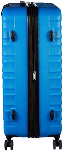 AmazonBasics Hartschalen-Trolley - 3-teiliges Set (56 cm, 69 cm, 79 cm), Hellblau - 3